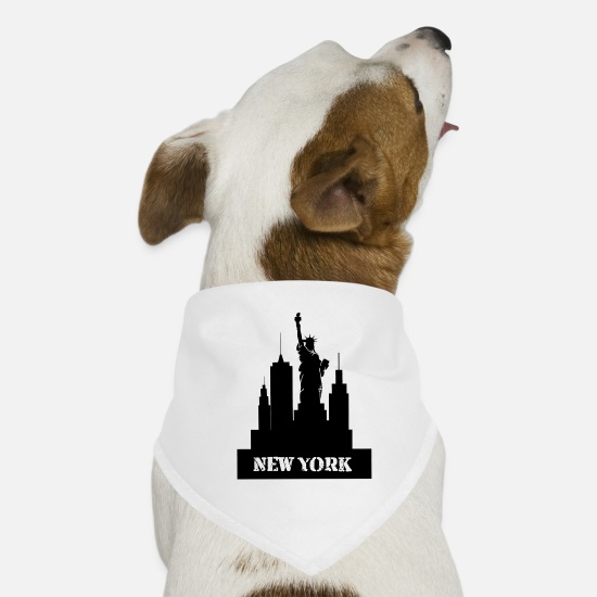 New World Order Bandane - New York - orizzonte - Bandana per cani bianco