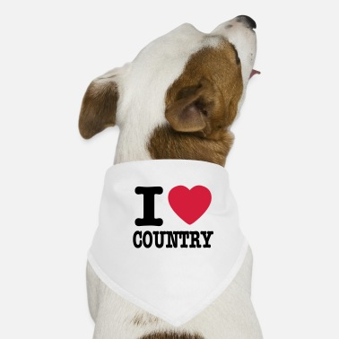 Country i love country / i heart country - Bandana til din hund