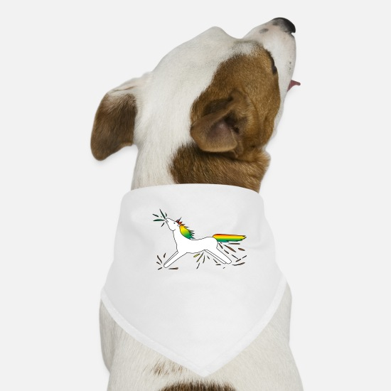 Unicorn Bandanas - unicorn unicorn - Dog Bandana white