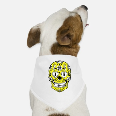 Flores YELLOW CALAVERA - Dog Bandana