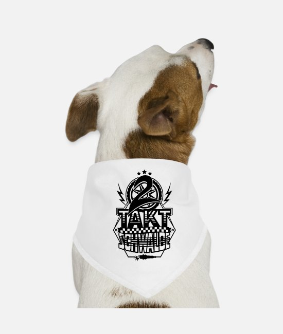 Pilot Bandanas - 2-stroke swallow / two-stroke swallow - Dog Bandana white