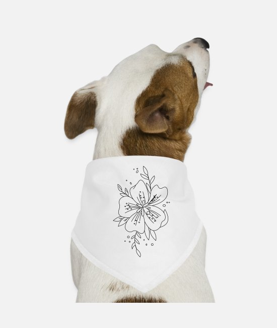 Design Lover Bandanas - Flower Flower - Dog Bandana white