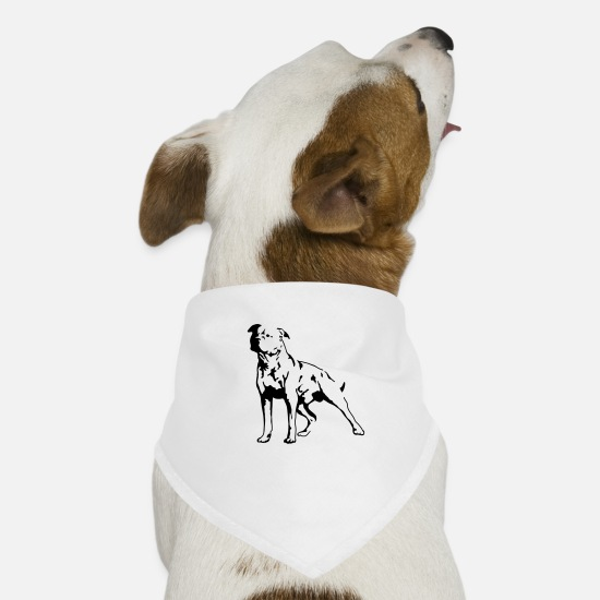 Dogs Bandanas - Staffordshire Terrier - Dog Bandana white