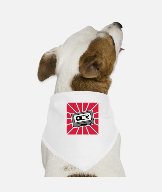MP3 Bandanas - mc music - Dog Bandana white