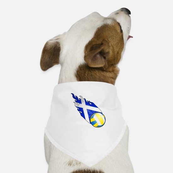 Ecosse Bandanas - Volley-ball Fireball Écosse - Bandana pour chien blanc