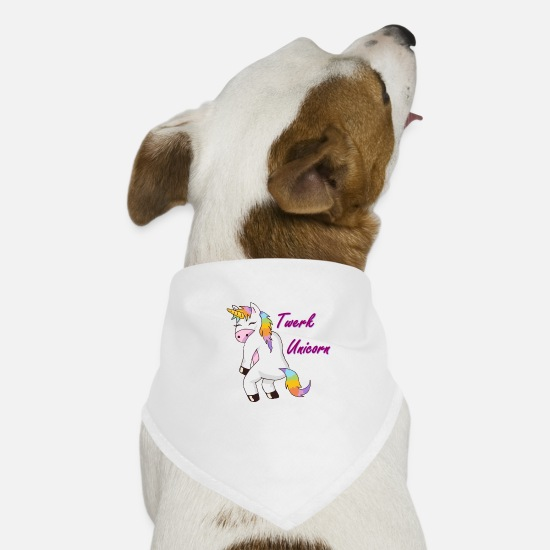 Street Dance Bandanas - twerk unicorn - Dog Bandana white