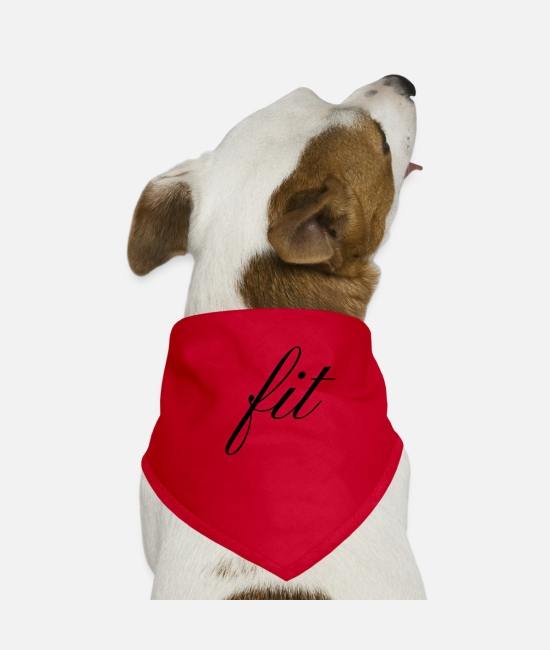 Fitness Bandanas - fit fitness gym sport sporty gym - Dog Bandana red