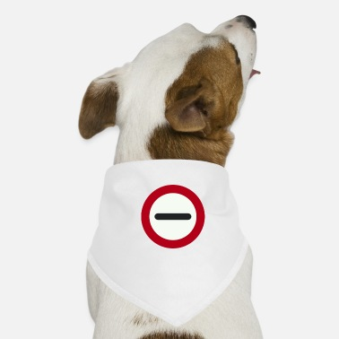 A direction traffic sign 001 - Dog Bandana