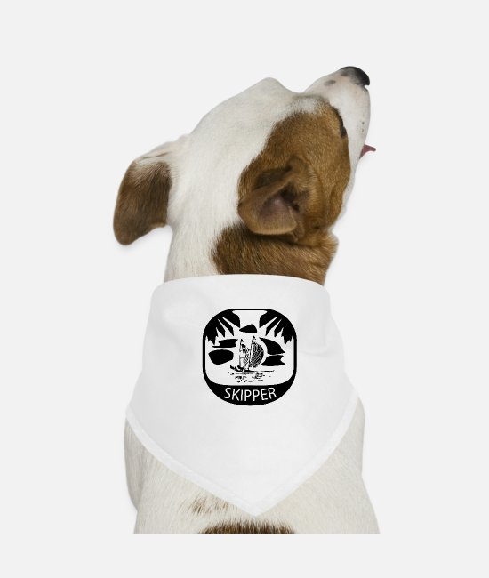 Water Bandanas - Erorxshirts sailing skipper 1 - Dog Bandana white