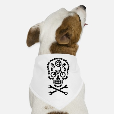 Bicycle Motocross Halloween BMX bicycle motocross skull bicycle - Dog Bandana