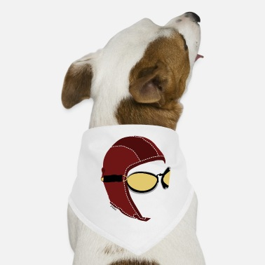 Aviator White Men's Boxer - Dog Bandana