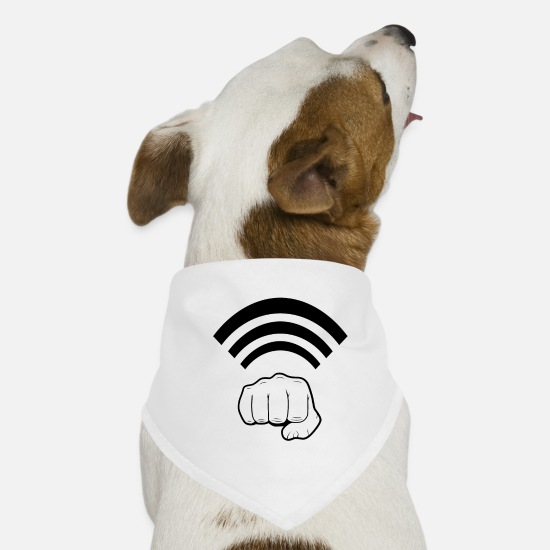 Mma Bandanas - Boxing Glove Saying Boxing Fist Wifi Wlan Gift - Bandana pour chien blanc