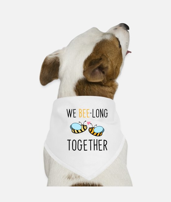 Garten Bandanas - we bee-long together - Hunde-Bandana Weiß