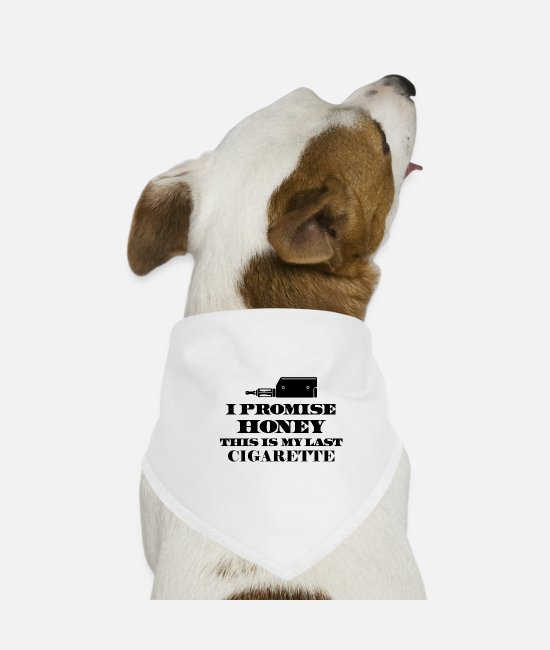 Hipster Bandanas - The promise - Dog Bandana white