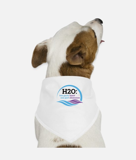 Ass Bandanas - H2O swimming design. - Dog Bandana white