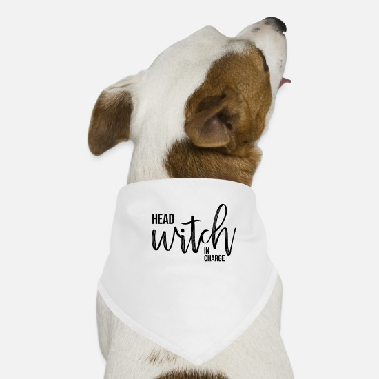 Birthday Bandanas - Halloween witch witchcraft magic spell magician costume - Dog Bandana white