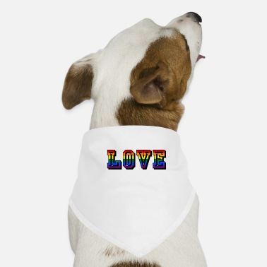 Love love rainbow LGBT CSD hippie tolerance - Dog Bandana