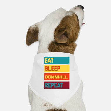Downhill Eat Sleep Downhill Repeat Retro Edition - Hunde-Bandana