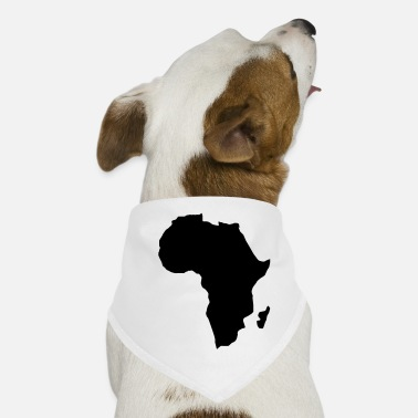 Continent Africa the dark continent - Dog Bandana