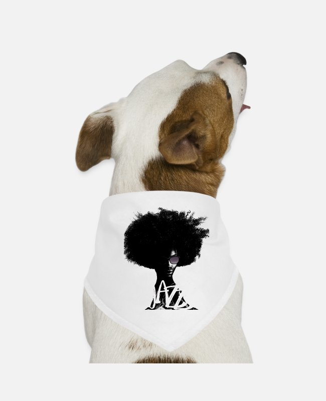 Art Bandanas - Jazz - Dog Bandana white