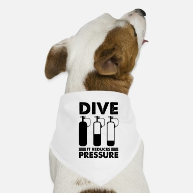 Under Water Diving dive diver diving saying - Dog Bandana