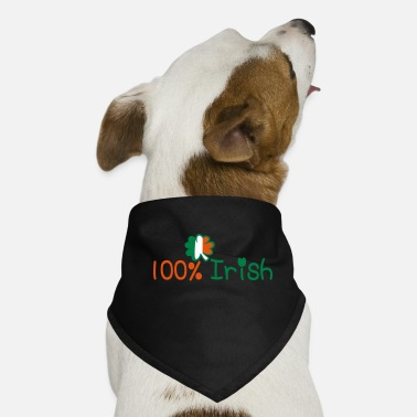 I Am In Love With Irish People Ireland Uk Vector Irish Font Design With Romantic Heart For Irish Clo ♥ټ☘Kiss Me I'm 100% Irish-Irish Rule☘ټ♥ - Dog Bandana