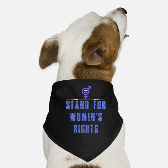 Women's Rights Clothes Bandanas - Women's Rights - I stand for women's rights - Dog Bandana black