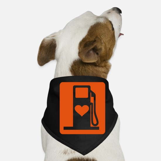 Love Bandanas - Love Gas UK eu - Dog Bandana black