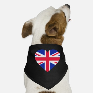 Uk Underwear Heart Britain - Dog Bandana