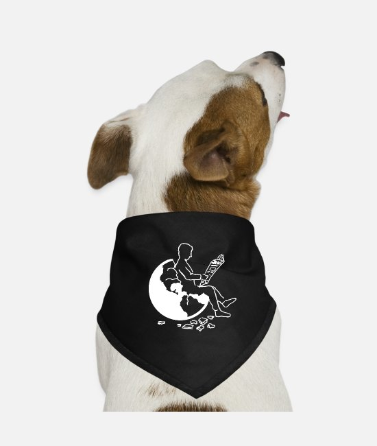 Earth Bandanas - Earth - Dog Bandana black
