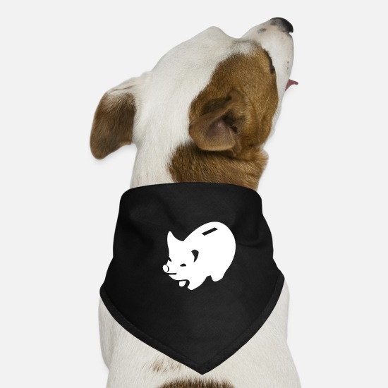 Hog Bandanas - cool piggy bank - Dog Bandana black