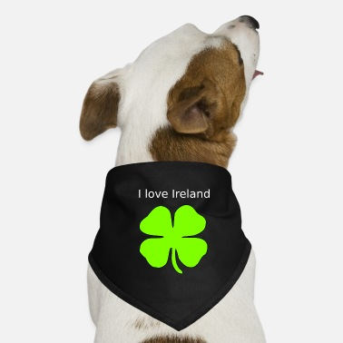 Cloverleaves I love Ireland - Dog Bandana