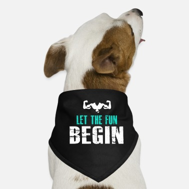 Geschenidee let the fun begib gym strong body muscke - Hunde-Bandana