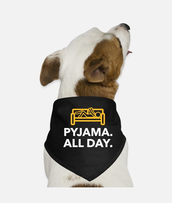 Bed Bandanas - Throughout The Day In Your Pajamas! - Dog Bandana black