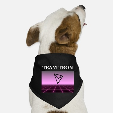 Altcoin Team Tron in retro design - cryptocurrencies - Dog Bandana