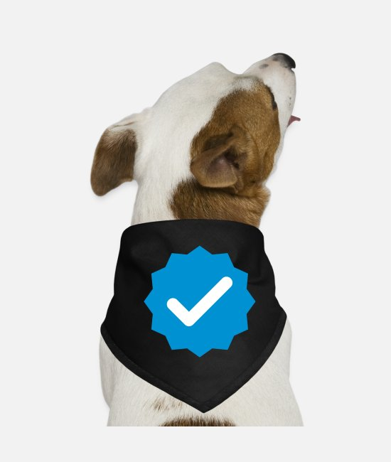 Blue White Bandanas - Verified - Dog Bandana black