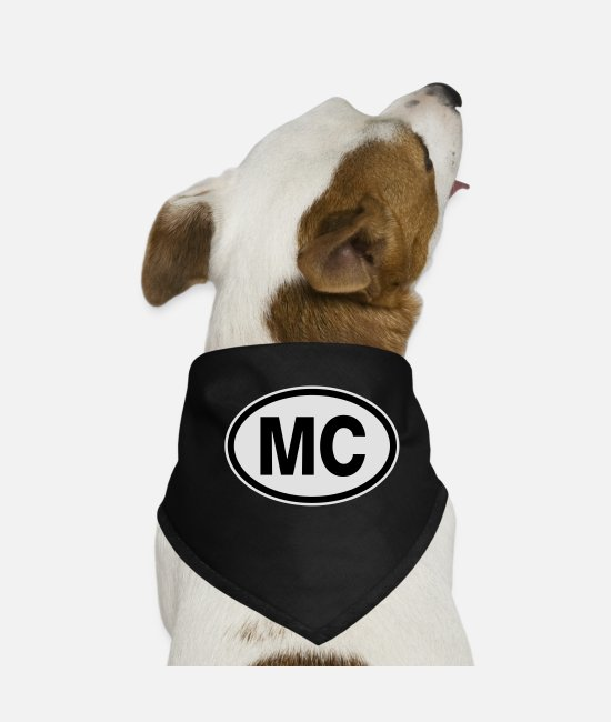 License Plate Bandanas - MC Monaco - Dog Bandana black