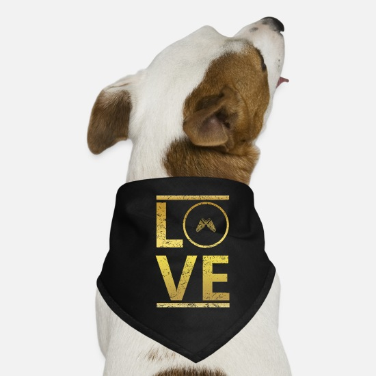 Love Bandanas - love calling profi king master Chain Chains - Dog Bandana black