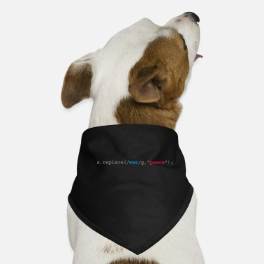 Code replace war with peace - Dog Bandana