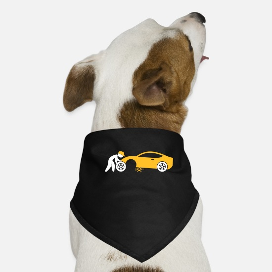 Symbol  Bandanas - A Mechanic Repairing A Car - Dog Bandana black