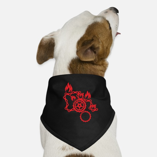Chain Bandanas - Bike Chain - Dog Bandana black