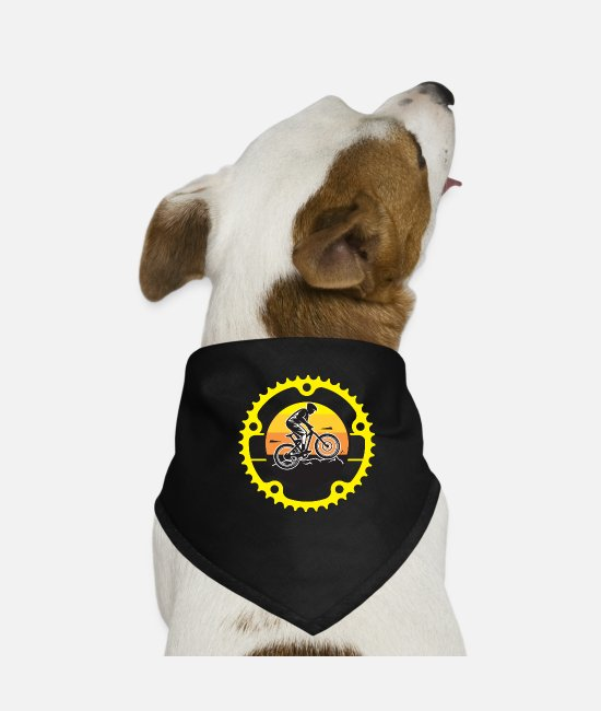 Art Bandanas - Bike Logo - Dog Bandana black