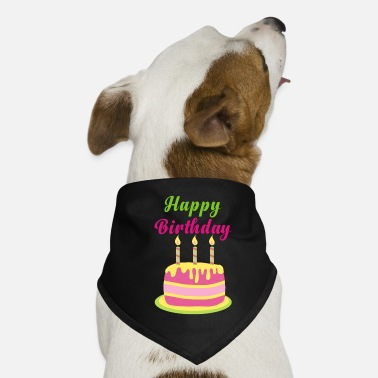Happy birthday party celebration cake candle - Dog Bandana