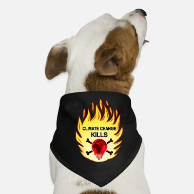 stop climate change, global warming stop, fff, Co² - Dog Bandana