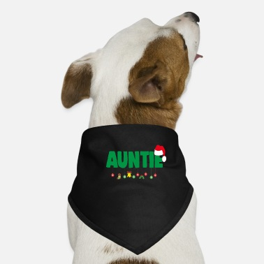 Love Christmas Auntie Aunt Xmas Apparel - Dog Bandana