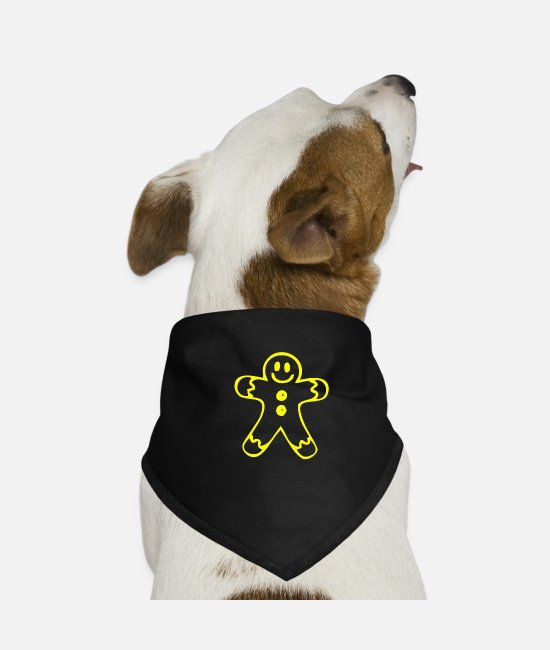 Cookie Bandanas - Gingerbread man figure for Christmas - Dog Bandana black
