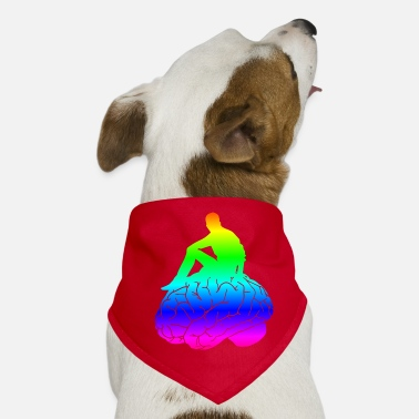 Brain Brain, brain, big brain, my brain, synapses - Dog Bandana