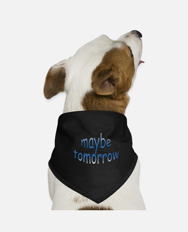 Maybe Tomorrow Bandanas - maybe2 - Dog Bandana black