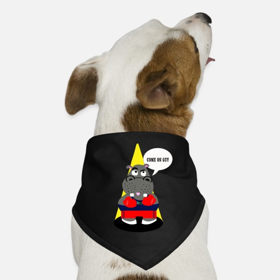 Birthday Bandanas - hippo - Dog Bandana black