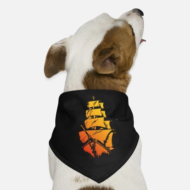 Pirate ship red yellow - Dog Bandana